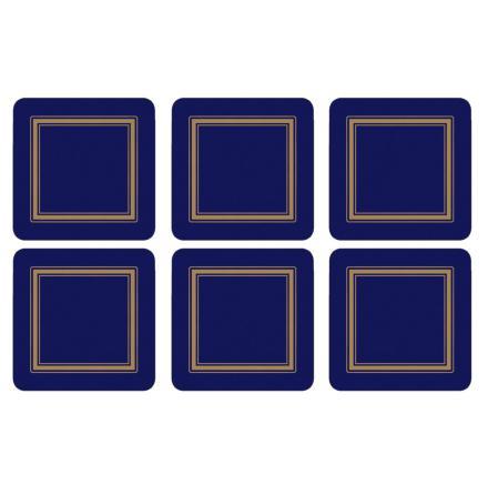 Classic Midnight Glasunderlägg 6-pack
