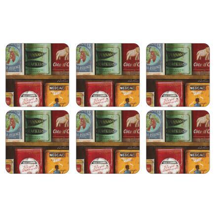 Vintage Tins Glasunderlägg 6-pack