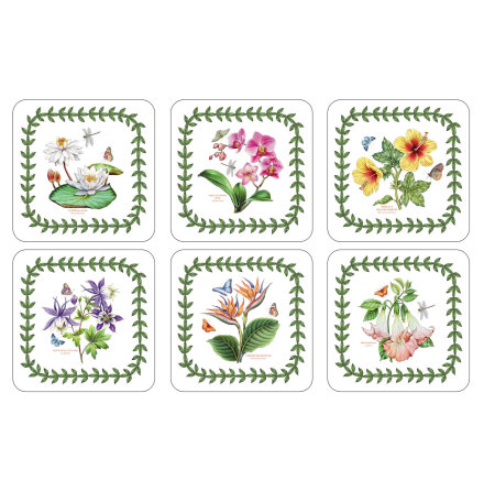 Exotic Botanic Garden Glasunderlägg 6-pack