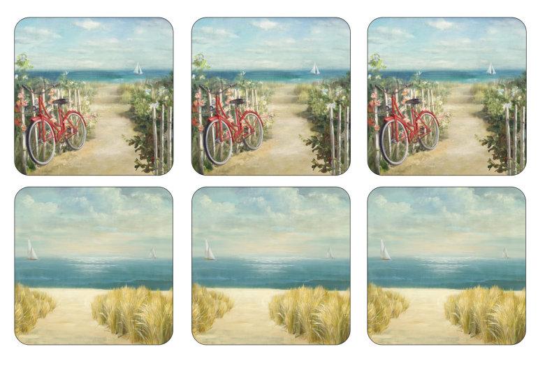 Summer Ride Glasunderlägg 6-pack