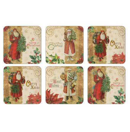 Victorian Christmas Glasunderlägg 6-pack