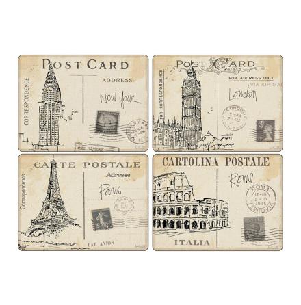 Postcard Sketches Bordsunderlägg 4-pack