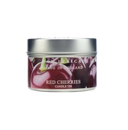 Fragranced Candle Tin Red Cherries Doftljus