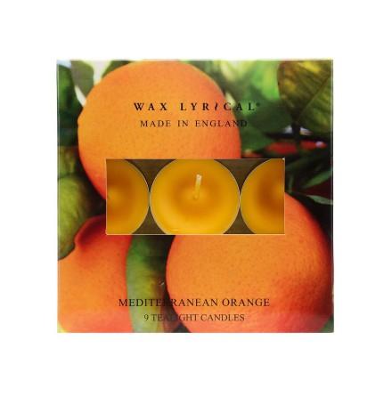 Tealights Mediterranean Orange Värmeljus