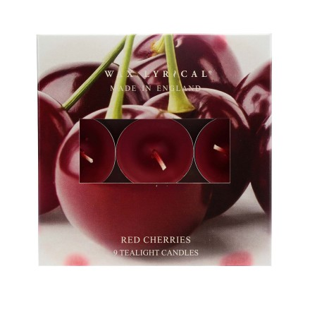 Tealights Red Cherries Värmeljus