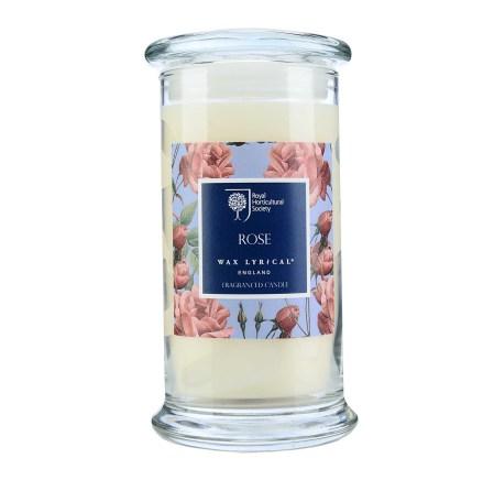 Fragranced Candle Jar Rose Doftljus