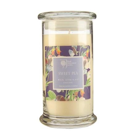 Fragranced Candle Jar Sweet Pea Doftljus