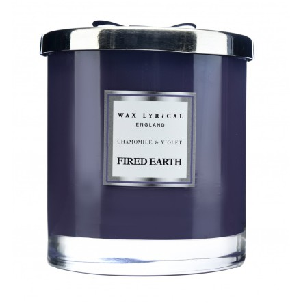 Large Fragranced Candle Jar Chamomile & Violet Doftljus med 2 vekar