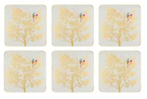 Sara Miller Chelsea Collection- Light Grey Glasunderlägg 6-pack
