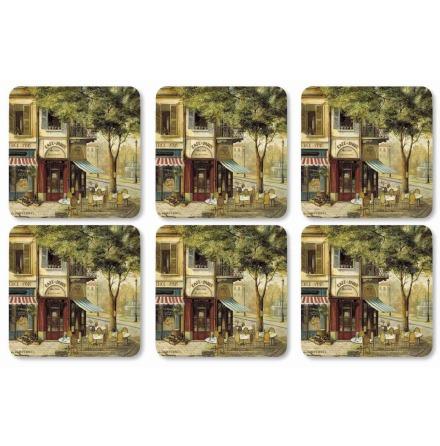 Parisian Scenes Coasters Glasunderlägg 6-pack