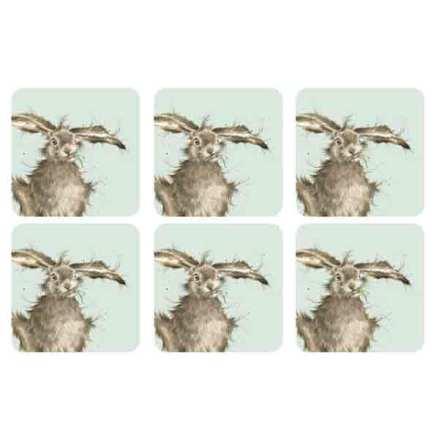 Wrendale Hare Glasunderlägg 6-pack
