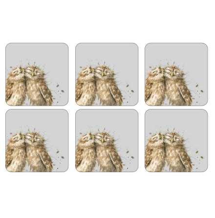 Wrendale Owl Glasunderlägg 6-pack