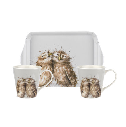 Wrendale Designs Mugg & Bricka Set Owl