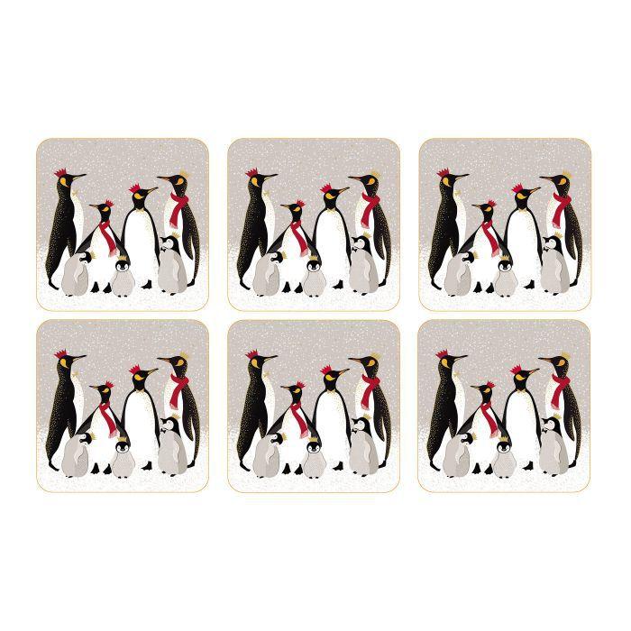Sara Miller Penguin Glasunderlägg 6-pack