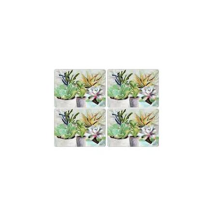 Succulents Bordsunderlägg 4-pack