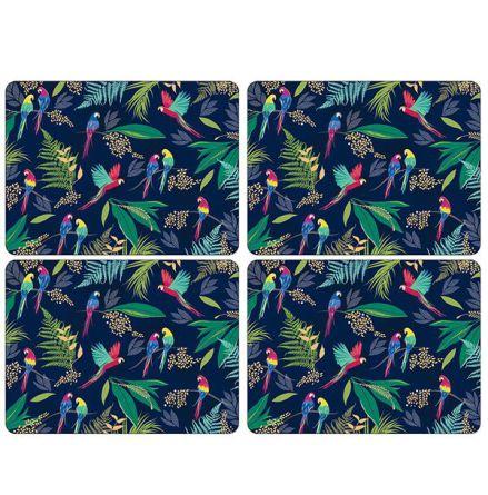 Sara Miller Parrot Parrot Large Bordsunderlägg 4-pack