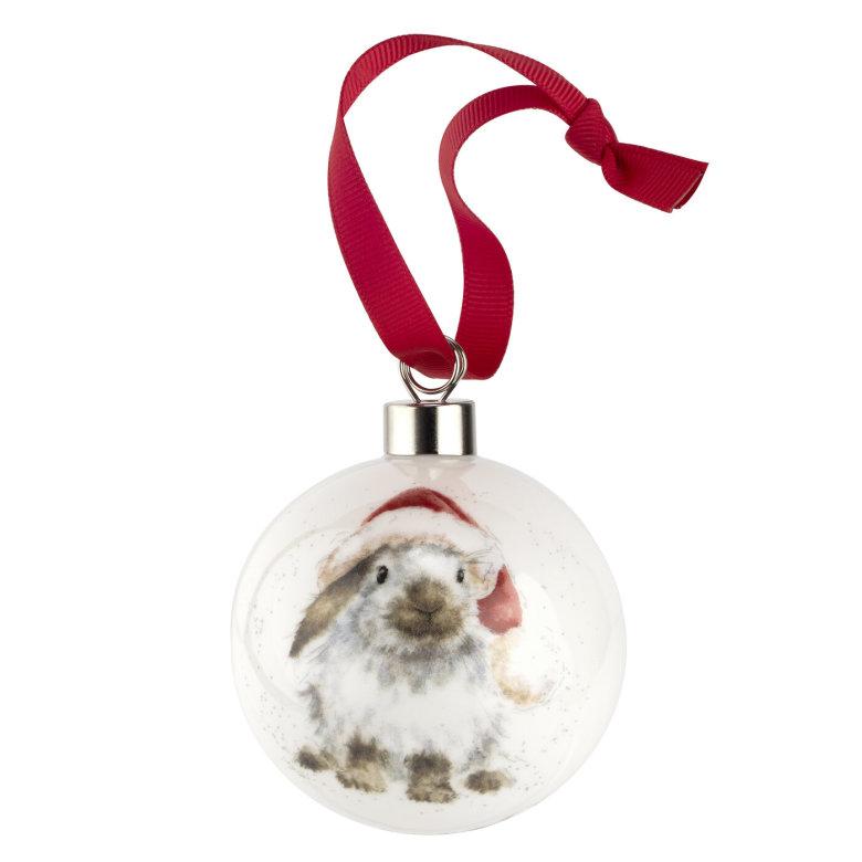Wrendale Design Christmas Ho Ho Ho (rabbit) 6.6cm