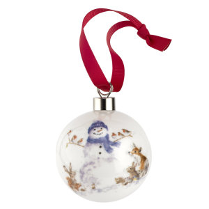 Wrendale Design Christmas Gathered All Around (snowman) 6.6cm