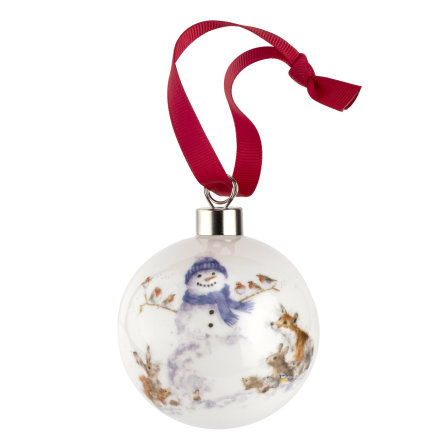 Wrendale Design Christmas Gathered All Around (snowman) 6.6cm