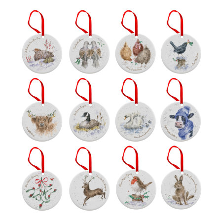 Wrendale Designs 12 Days of Christmas Julpynt 12-pack