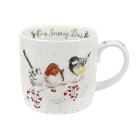 Wrendale Design Christmas Mugg One Snowy Day (Birds) 0,31L