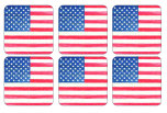 American Flag Glasunderlägg 6-pack