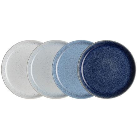 Studio Blue Mix Coupe Tallrik 26cm 4-pack