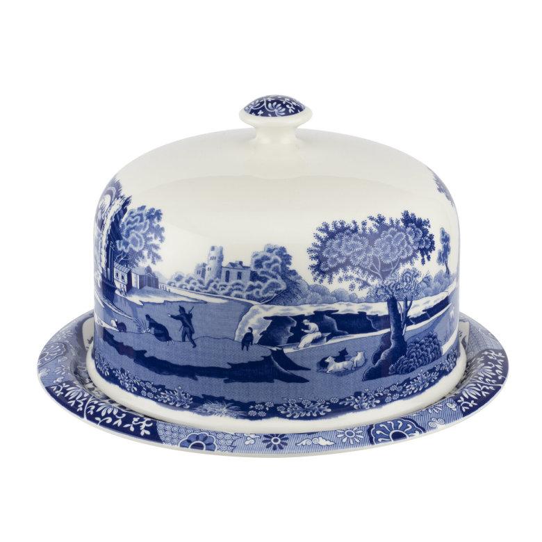 Blue Italian Serveringsfat Med Dome