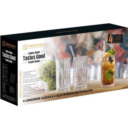 Feel Good Longdrink 4-pack Inkl Sugrör & Borste