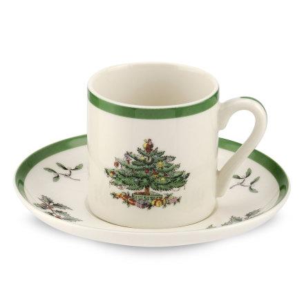 Christmas Tree Espressokopp & Fat 4-pack 0.09L