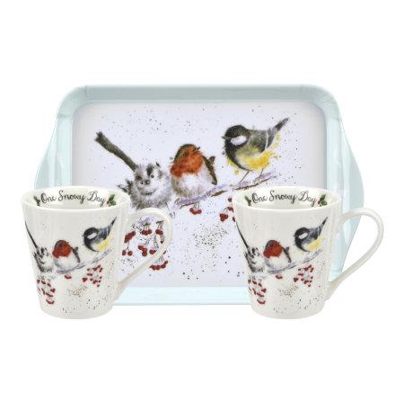 Wrendale Design Christmas One Snowy Day Birds  Mugg och Brickset