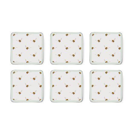 Wrendale Design Glasunderlägg 6-pack - Bee