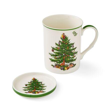 Christmas Tree Mugg & Coaster Set 0,35L