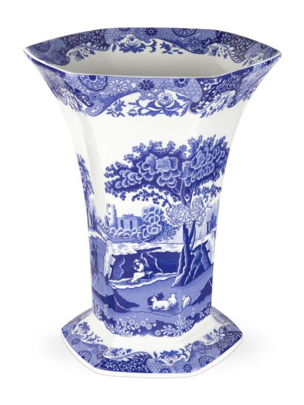 Blue Italian Hexagonal Vas