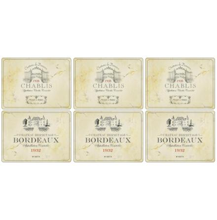 Vin de France Bordsunderlägg 6-pack