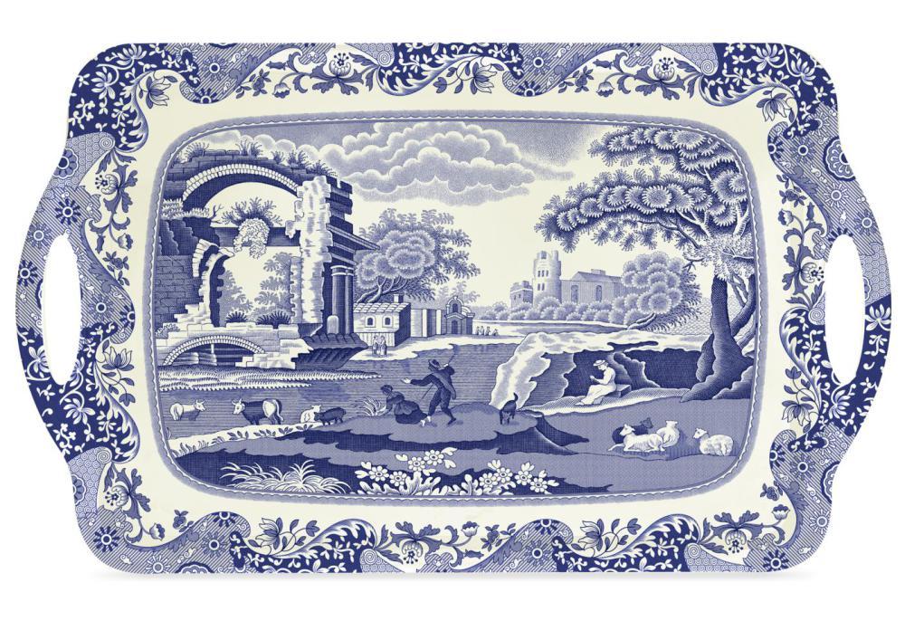 Blue Italian Bricka Melamin