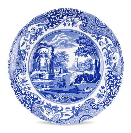 Blue Italian Desserttallrik