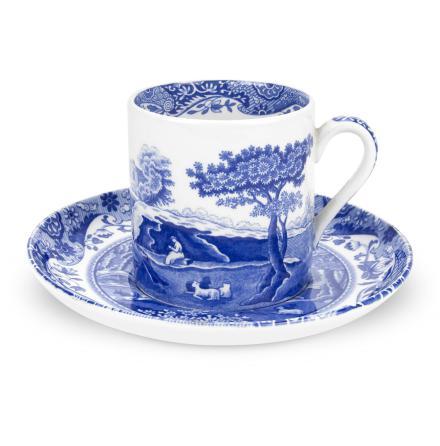 Blue Italian Kaffekopp & Fat