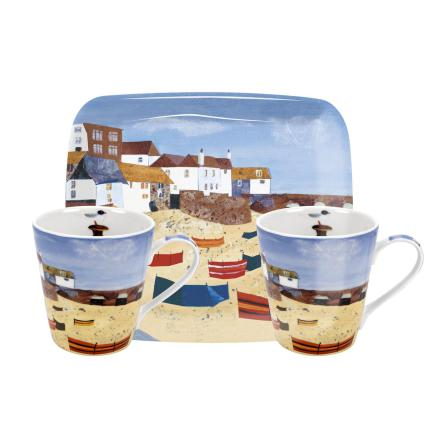 St Ives Windbreak Mugg & Bricka Set