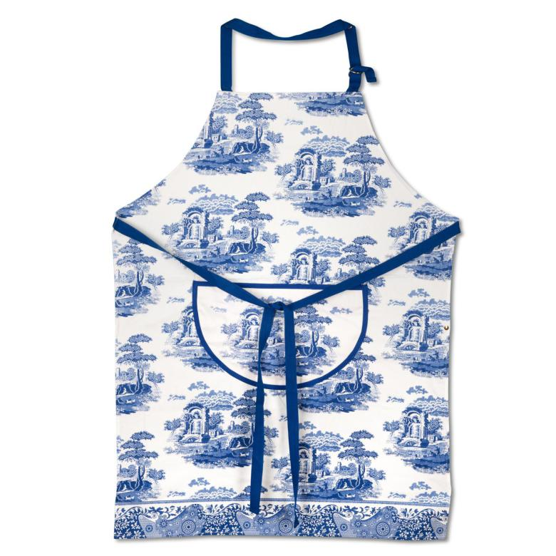 Blue Italian Förkläde Bomull