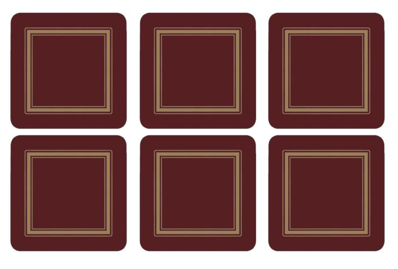 Classic Burgundy Glasunderlägg 6-pack