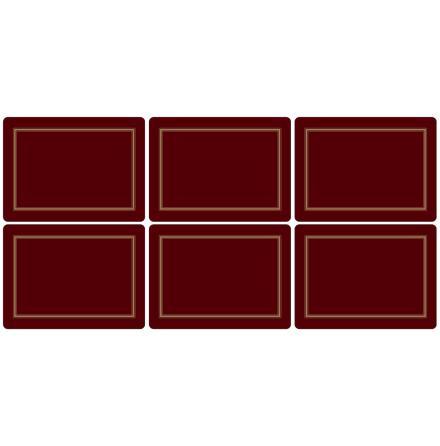 Classic Burgundy Bordsunderlägg 6-pack