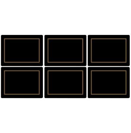 Classic Black Bordsunderlägg 6-pack