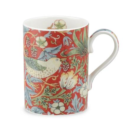 FBC Mugg Morris & Co Strawberry Thief Crimson Slate