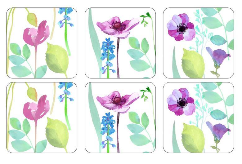 Water Garden Glasunderlägg 6-pack