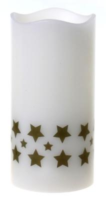 LED Blockljus Guldstjärnor