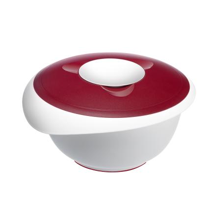Vispskål med lock 3,5L Röd
