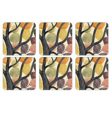 Dancing Branches Glasunderlägg 6-pack