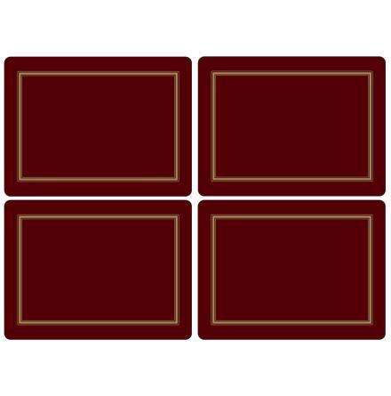 Classic Burgundy Bordsunderlägg 4-pack